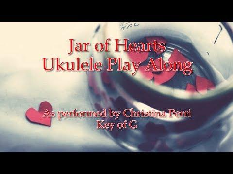 Jar of Hearts Ukulele Play Along (in G)