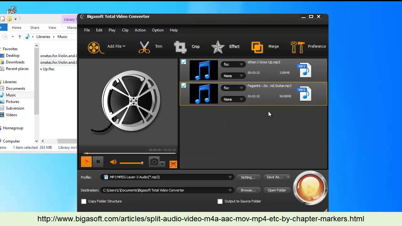 Split Video and Audio M4A, MP3, AAC, MOV, MP4, etc Based on Chapter Marker