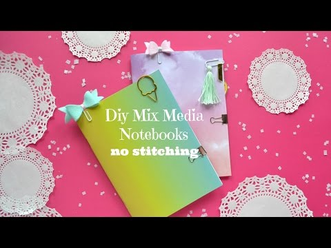 Diy Mix Media Notebooks - No Stitching - Handmade Traveler's Notebook Inserts