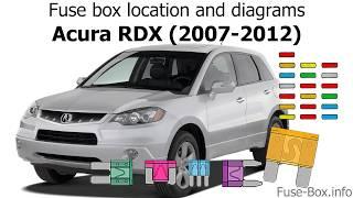 fuse box location and diagrams: acura rdx (2007-2012) - youtube  youtube