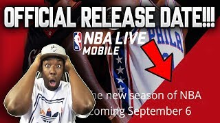 NBA LIVE MOBILE 19 NEWS + OFFICIAL RELEASE DATE!!!