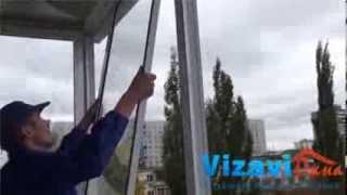 Остекление балкона с выносом(, 2014-02-19T10:39:08.000Z)
