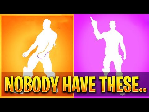 7 RARE Fortnite Emotes ONLY 0.1% of Players Have..
