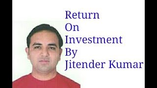 Return on investment/ROCE-Calculation of Return on Investment (Return on capital employed)