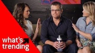 Matt Damon with Live Prude Girls and Lisa Schwartz Plus Top Videos of 2/12/13