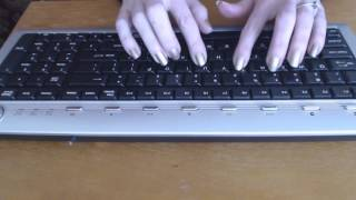 ASMR Keyboard Typing & Gum Chewing ~ No Talking
