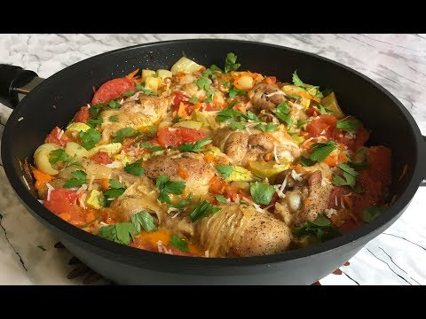 Супер Просто Курица с Овощами Вкусный и Быстрый Обед / Курица на Сковороде / Chicken With Wegetables