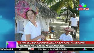 Crucero Sea Cloud II llega a las costas de Corn Island en el Caribe nicaragüenses
