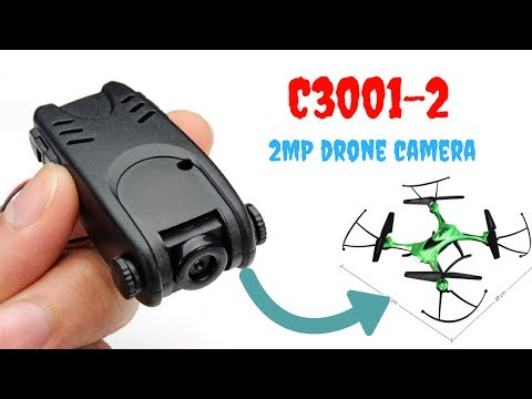 C3001-2 - Lightweight drone camera for Syma X5c, JJRC H31 - unboxing, review, mounting, footage