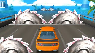 DEADLY RACE #21 SPEED Orange Car Bumps Challenge 3D Gameplay Android IOS