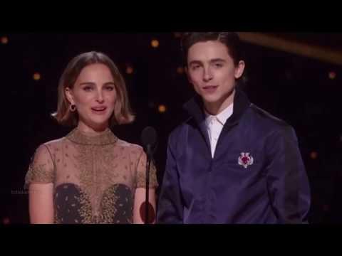 Timothée Chalamet & Natalie Portman Presenting Best Adapted Screenplay At 92nd Oscars(Timmy Cut)2020