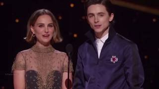 Timothée Chalamet & Natalie Portman presenting Best Adapted Screenplay at 92nd Oscars(Timmy cut)2020