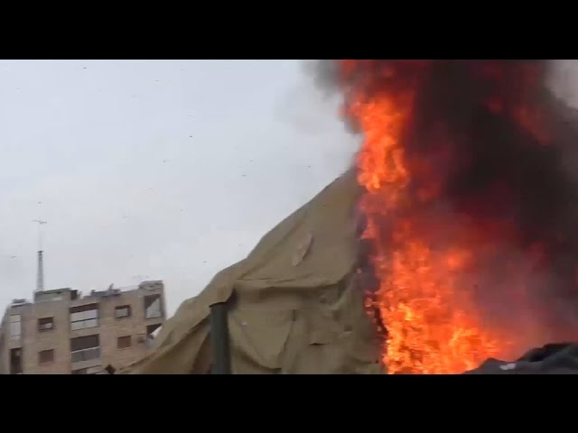 Militants shell Russian hospital in Aleppo, 2 paramedics killed – immediate aftermath footage