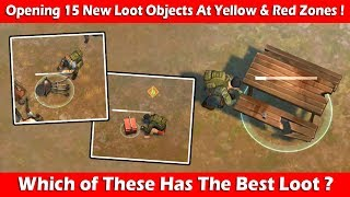 Opening 15 New Lootable Objects At Red & Yellow Zones (1.9.7) ! Last Day On Earth Survival