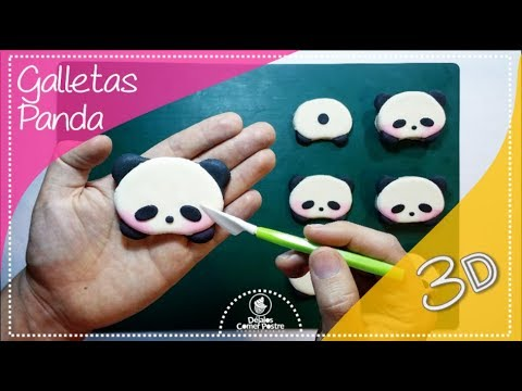 Como Hacer Galletas Panda 3d Paso A Paso