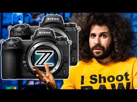 OFFICIAL NIKON Z6 Z7 Mirrorless Camera PREVIEW | ONLY 1 CARD SLOT?!