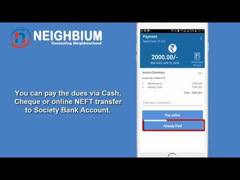 Neighbium Demo - How Resident can make the payment? Apartment and Housing Society Management App