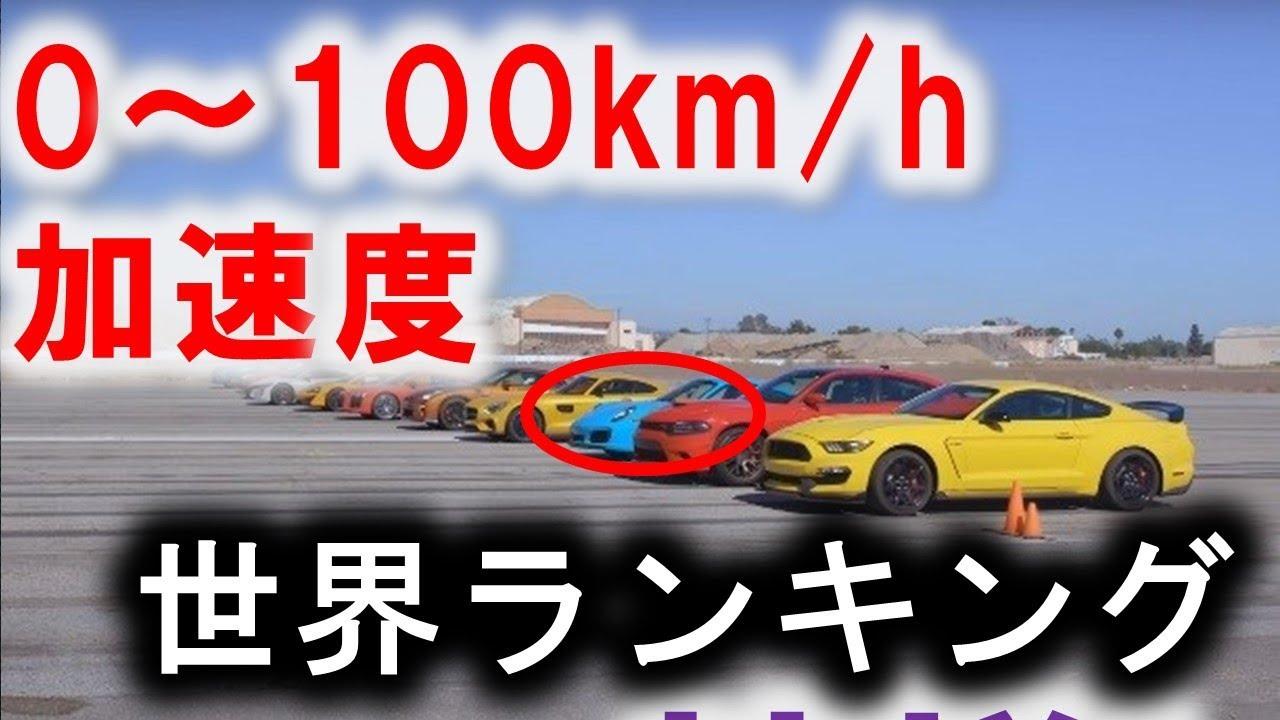 【スーパーカー】加速度ランキング!TOP10 0~100km/hまで2秒台!