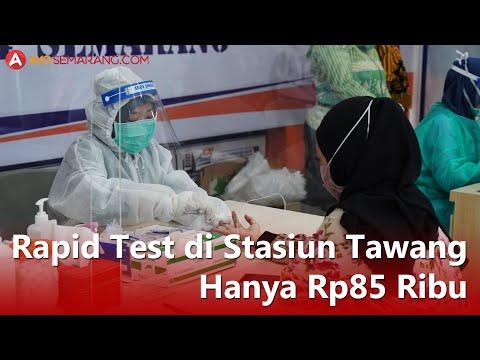 [Video] Rapid Test di Stasiun Tawang Hanya Rp85.000