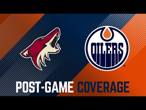 LIVE | Oilers Post-Game Interviews at Coyotes