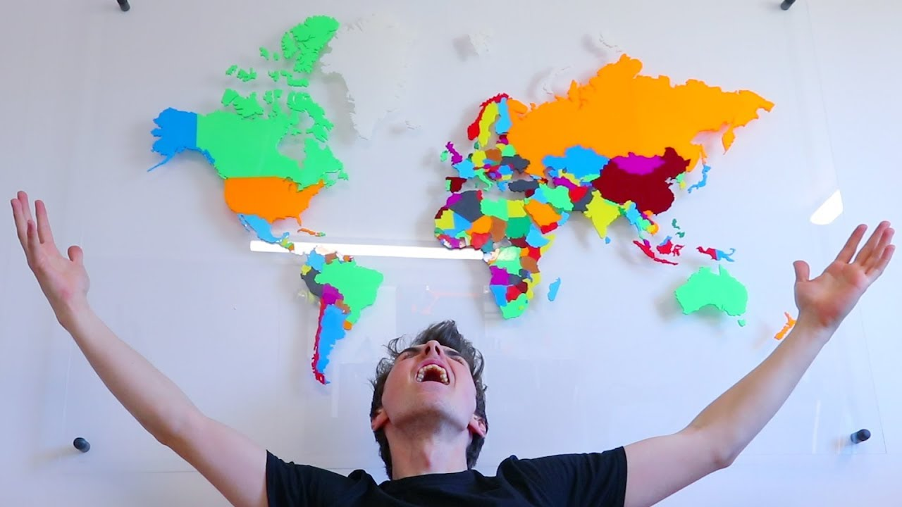 world map puzzle 3d printed