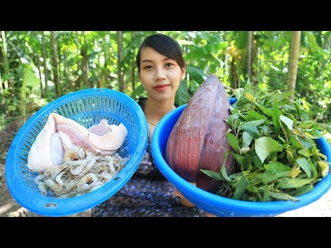 Yummy cooking banana flower with pork recipe – Cooking skill
