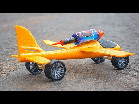 Experiment A Plane on wheels with a Rocket Engine!