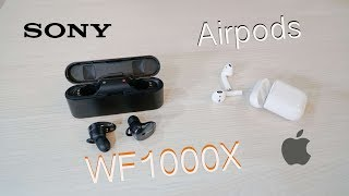 Trên tay Sony WF 1000X - Chống ồn tốt, âm thanh hay - So sánh với Apple Airpods