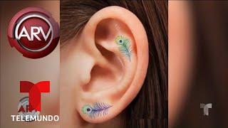Minitatuajes en las orejas, la nueva tendencia | Al Rojo Vivo | Telemundo