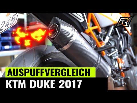 Auspuffanlagen Vergleich KTM DUKE 125   Giannelli, Leo Vince, Arrow, GP Carbon