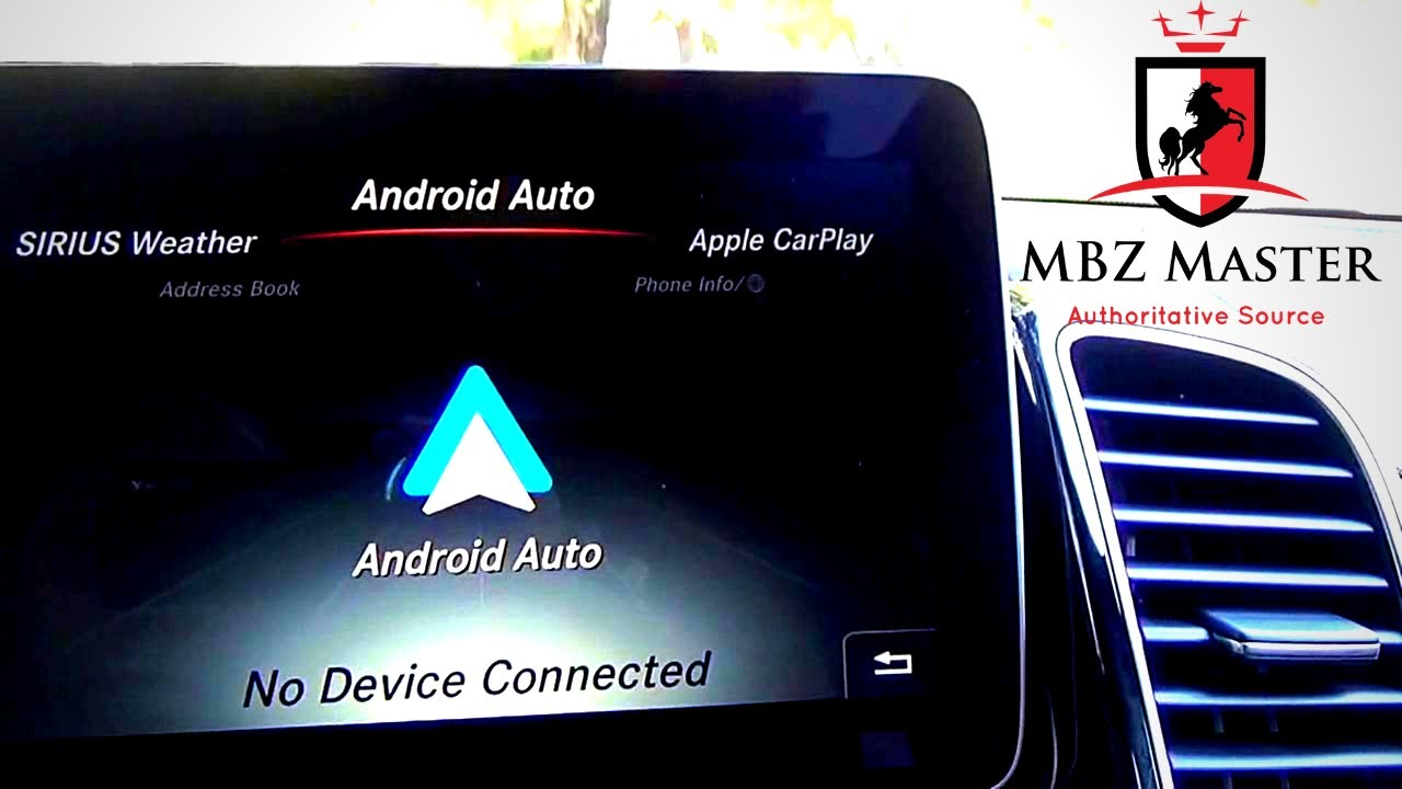 Android Auto Demo On 2017 2019 Mercedes Benz Gls Class Youtube