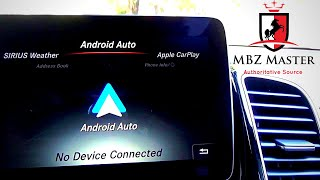 Android-Auto demo on 2017-2019 Mercedes-Benz GLS-Class