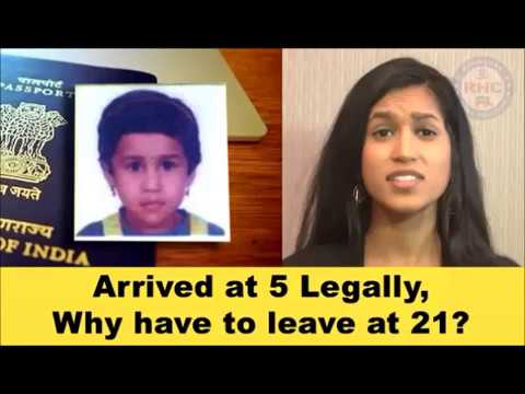 Children of legal immigrants who simply age out at 21 have to go back!