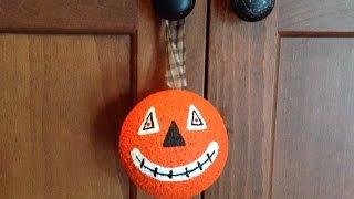 How To Create A Fun Vintage Halloween Pumpkin Ornament - Diy Crafts Tutorial - Guidecentral