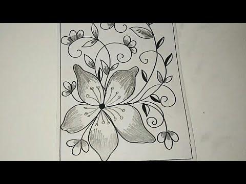 Cara Menggambar Batik Motif Bunga 26