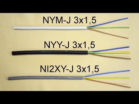 Typenbezeichnungen von Kabeln/Leitungen - Bedeutung der Buchstaben und Zahlen (NYM-J 3x1,5)