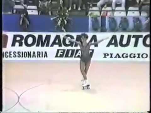 Chiara Sartori 1985 world roller skating championships short program