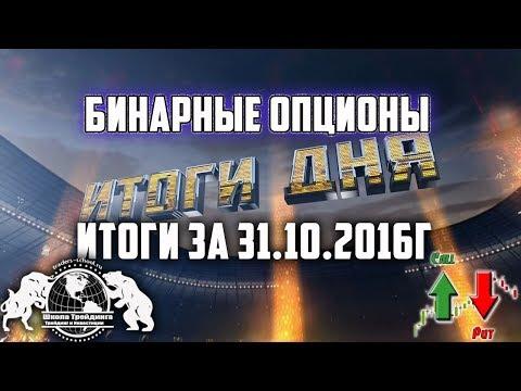 Бинарные Опционы - Итоги за 31.10.2016г