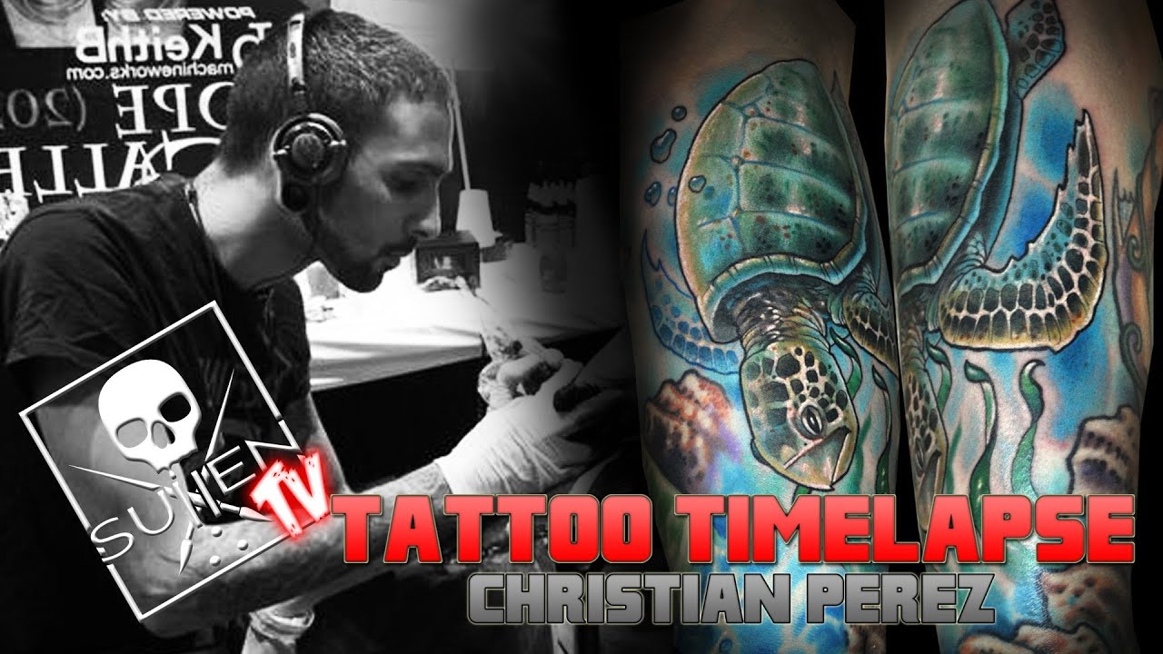 9d31a5a5c Tattoo Time Lapse - Christian Perez - Tattoos Realistic Color Turtle ...