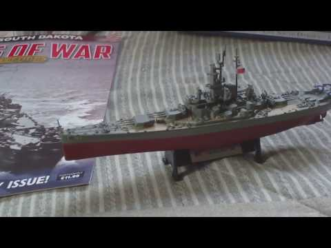 REVIEW,SHIPS OF WAR COLLECTION,PART 9, USS SOUTH DAKOTA, 1945