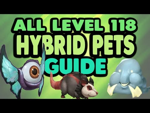 "Wizard101: ALL 118 Pets ""Hybrid Pets"" GUIDE To Making ALL The New Hybrid Pets!"
