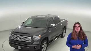 A95714GT - Used, 2014, Toyota Tundra, Platinum, 4WD, Gray, Crew, Test Drive, Review, For Sale -