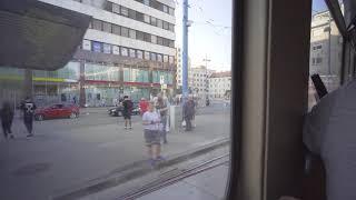 Austria, Vienna, tram 30 ride from Floridsdorf to Floridsdorfer Markt