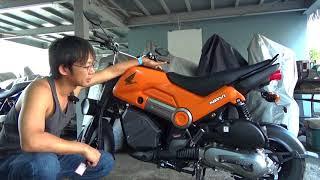 ホンダnavi110(ほぼ新車)参考動画:メーカー仕様に違和感。調整試みます。
