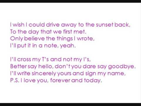 The All American Rejects - P.S. I Love You +lyrics