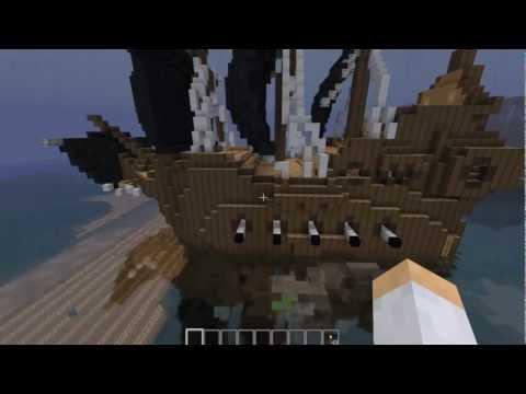 Construction de fou ep2 le bateau pirate doovi - Minecraft construction de fou ...