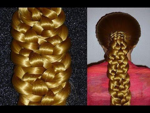 ПРОСТАЯ Причёска для средних/длинных волос. Плетение кос самой себе на каждый день в школу/на работу