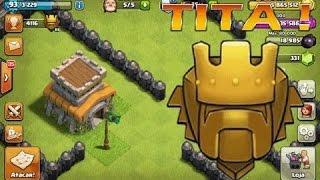 Cheguei a Titan Com o Cv8 ??? clash of clans