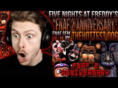 """Vapor Reacts #967   FNAF SFM ANIMATION """"FNAF 2 Anniversary Special"""" By TheHottest Dog REACTION!!"""
