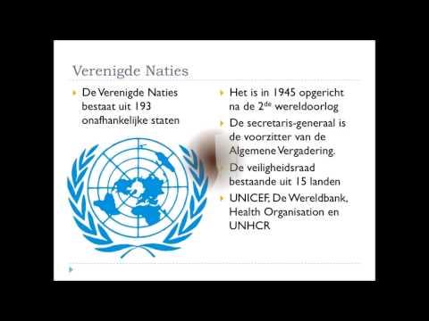 Filmpje 2: De Europese Unie en de Verenigde Naties